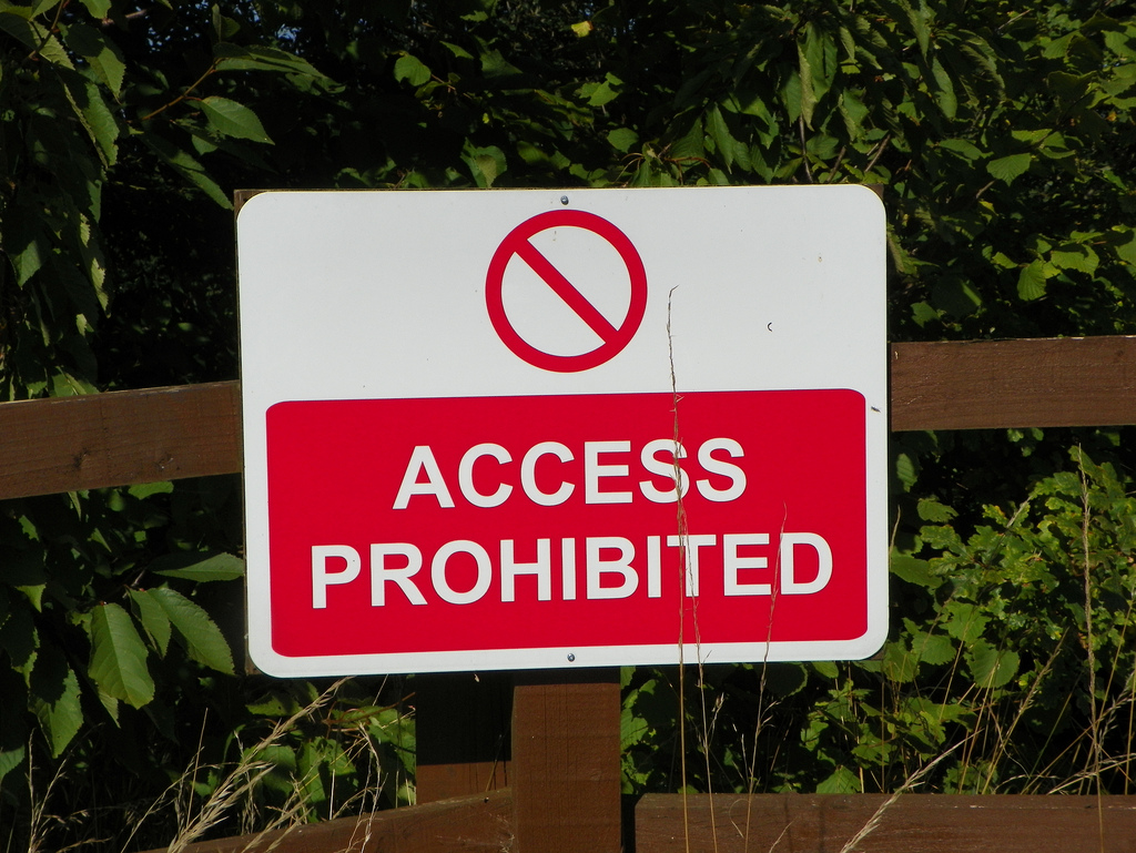 Access prohibited